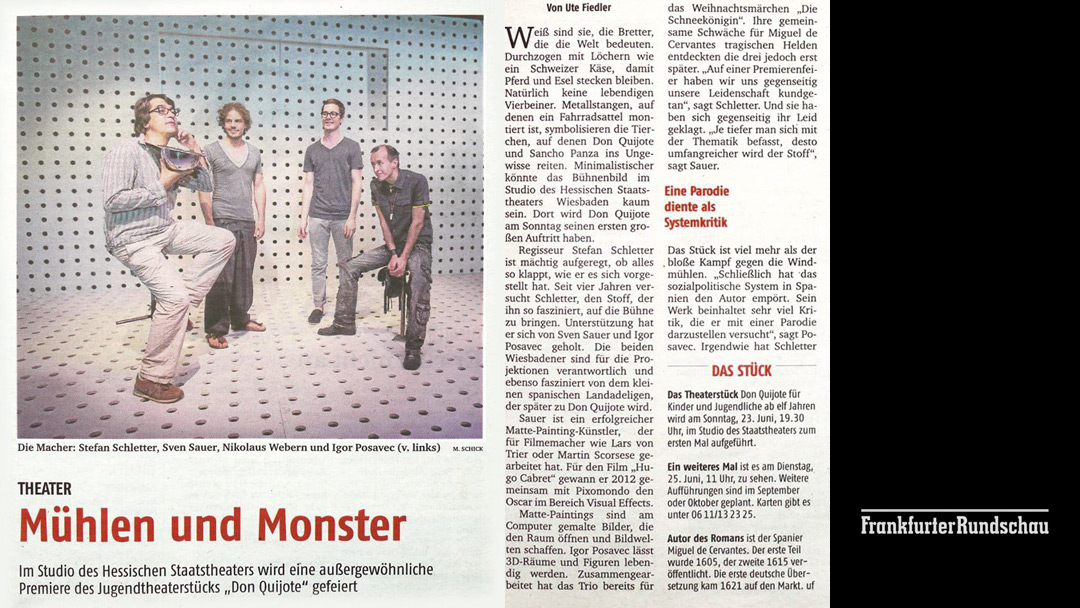 SA-PO Pressezitate Don Quijote - Hessisches Staatstheater Wiesbaden
