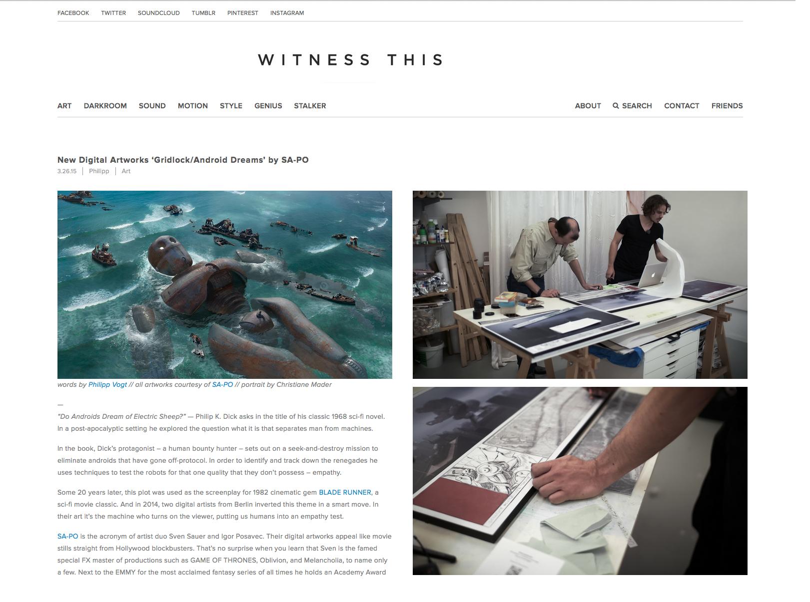 SA-PO at Witness this Art Portal